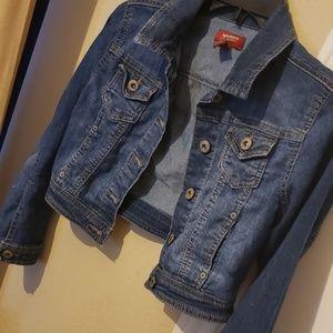Girls denim jacket size L 10-12